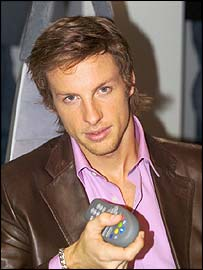 Jenson Button has been promoting the BBCi on TV service