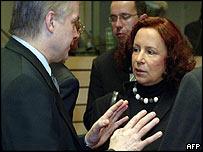 Wlodzimierz Cimoszewicz and Ana Palacio