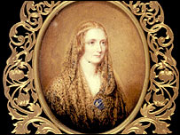 Mary Shelley, miniature portrait