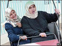 Muslim girls in Baghdad