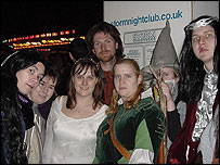 Fans dressed as the Fellowship