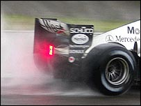 The rear wing on McLaren's new MP4-19