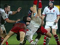 Action from Stade Francais v Ulster