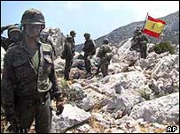 Spanish soldiers on Perejil, 2002