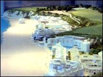 Plan for Carlyon Bay