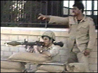 Kuwaiti soldiers defending the capital from the advancing Iraqi army