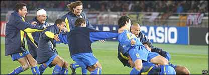 Todo Boca celebra el triunfo en Jap�n.