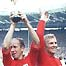 Bobby Charlton and Bobby Moore celebrate World Cup victory in 1966