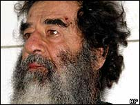 Saddam Hussein with beard, captured!