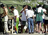 Asylum seekers in Nauru (file image)