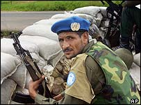 UN peacekeeper in Monrovia