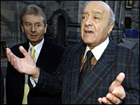 Mohamed Al Fayed in Edinburgh
