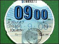 Tax disc
