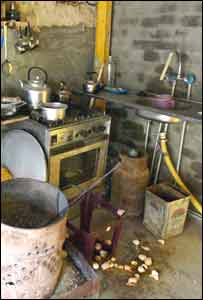 The kitchen of Saddam Hussein's hideout