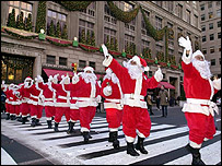 Santas in New York