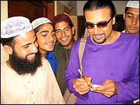 Salman Ahmad with madrassa students