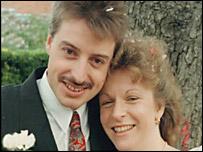 Julian Webb and Dena Thompson on their wedding day