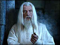 Sir Ian McKellen, who plays Gandalf