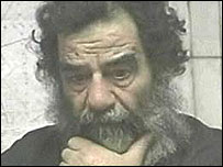 Saddam Hussein shortly after arrest