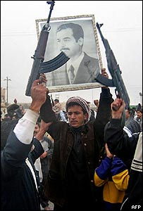 Saddam supporters in Falluja this week