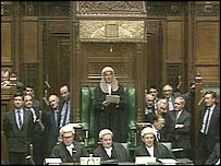 Lord Weatherill as speaker of the House of Commons