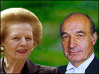 Margaret Thatcher and Bernard Weatherill