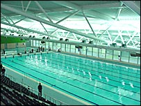 Bbc news uk wales south east wales sports village off the blocks for International swimming pool cardiff