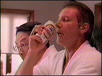 Harrison Ford enjoys Kirin beer