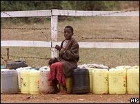 Un niño keniano en un suburbio de Nairobi