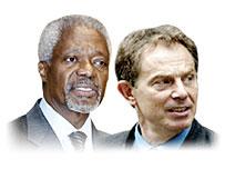 Kofi Annan and Tony Blair
