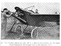 FW Merriam about to take off in 1912