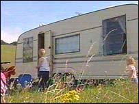 Travellers' caravan