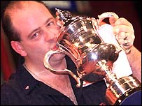 Ted 'The Count' Hankey celebrates victory in 2000