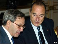 Bernard Stasi y Jacques Chirac