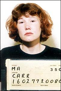 Police mugshot of Carr