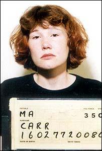 Police mugshot of Carr