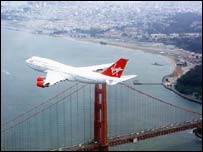 Jumbo jet/San Francisco