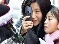 Camera phone users in China
