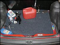 Boot of Ian Huntley's car