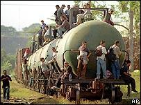 Locomotora en Chiapas