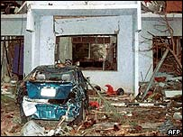 Aftermath of attack at al-Muhaya compound, 8 November, 2003