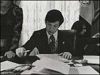 Dennis Kucinich, while serving as Cleveland's mayor