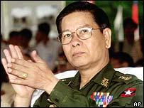 Ousted Prime Minister Khin Nyunt