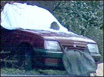 The officers' unmarked car