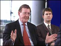Widening gap: Mr Donaldson (right) has increased his attacks