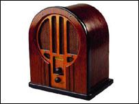 Receptor de radio a capilla.