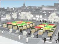 One of the previous designs for Norwich Market