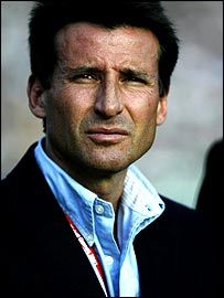 Sebastian Coe narrows his eyes