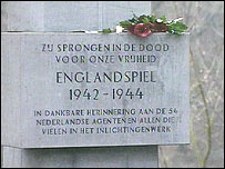 Monument to Dutch agents workingfor the British during WWII