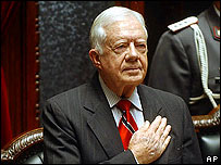 Jimmy Carter, ex presidente de Estados Unidos.
